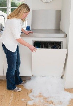 Clogged dishwasher creating major water leak